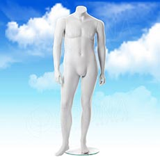 Figurína pánská XXL, matná bílá, bez hlavy