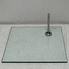 Figurína podstavec skleněný, čtverec, 280 x 280 x 8 mm