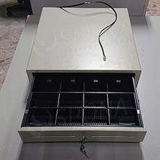 Pokladní zásuvka EC 465, 4B/8M, béžová, kov