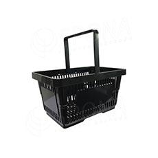 Košík nákupní, černý plast