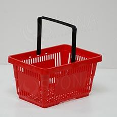 Košík nákupní, červený, plast