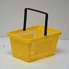 Košík nákupní, žlutý, plast