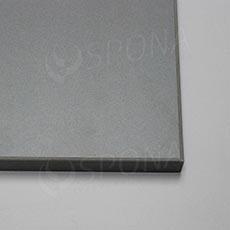Police MDF 997 x 400 x 18 mm, ABS 4x, stříbrná