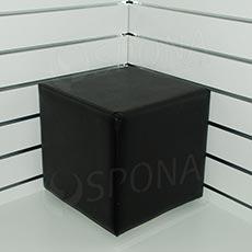 Taburet, výška 370 mm, 340 x 340 mm, černý