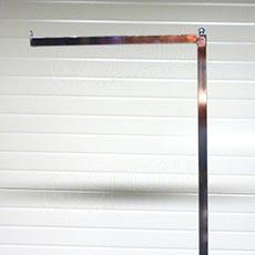 Štendr PROFILINE rameno rovné s kuličkou, 40 cm, chrom