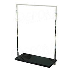 CUADRO 110, štendr 1000 x 1450 mm, bílá deska, chrom