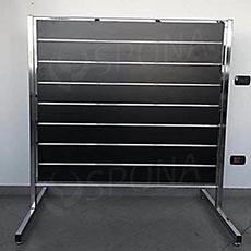 Stojan pro SLAT panely oboustranný, 120 x 150 cm, chrom, bez panelu
