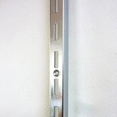 VARIANT stojina na stěnu 1 drážka, 23 x 30 mm, 2400 mm, chrom
