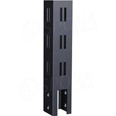 FOUR stojina profil 40x40 mm, délka 1270 mm, 4x4 mm, s výřezem, chrom