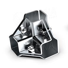 PRIMO 25 spojka vnější třícestná rohová, chrom