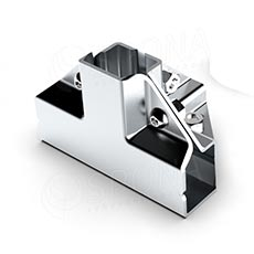 PRIMO 25 spojka vnější čtyřcestná rohová, chrom