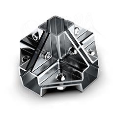 PRIMO 25 spojka vnější pěticestná, chrom
