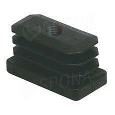 SCACCO MATTO 8372, obdélníková gumová záslepka 40 x 20 mm se závitem M10