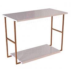 CUADRO 400, stolek výstavní komplet, 120 x 60 x 90 cm, šedé a bílé LTD