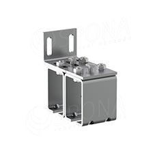CUADRO 9631D dvojitý úchyt pro závěsný systém na stěnu, chrom