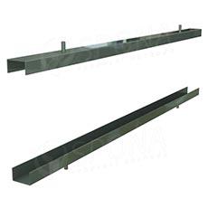 PANORAMA 113B, držák oboustranného panelu tloušťka 2x 19 mm, 870 mm, chrom, pár