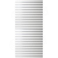 SLAT panel 120 x 240 cm, 23 drážek v rozteči 10 cm, bez insertů, bílý