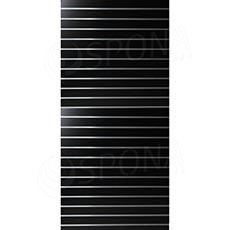 SLAT panel 120 x 240 cm, rozteč 10 cm, bez insertů, černý