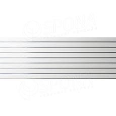 SLAT panel 240 x 90 cm, rozteč 10 cm, terminal, bez insertů, bílý