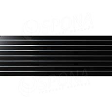 SLAT panel 240 x 90 cm, rozteč 10 cm, terminal, bez insertů, černý