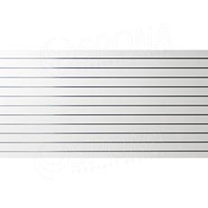 SLAT panel 240 x 120 cm, rozteč 10 cm, terminal, bez insertů, bílý