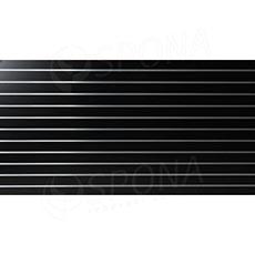SLAT panel 240 x 120 cm, rozteč 10 cm, terminal, bez insertů, černý