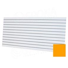 SLAT panel ART 240x120 TERMINAL, rozteč 10 cm, bez insertů, pastelová žlutá
