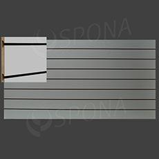 SLAT ART drážkový panel 240 x 120 cm, rozteč 15 cm, bez insertů, bílý (bianco)