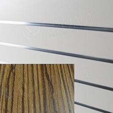 SLAT ARK panel 120 x 240 cm, 20, bez insertů, zebrano
