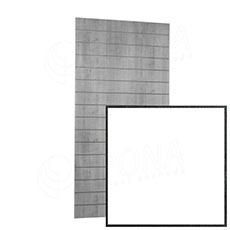 SLAT panel ARK 120 x 240 cm, rozteč 20, bez insertů, bílý