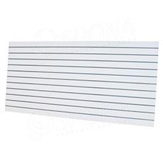 SLAT ARK panel 240 x 120 cm, 11 drážek v rozteči 10 cm, bez insertů, bílý