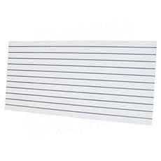 SLAT panel ARK 240 x 120 cm, rozteč 10 cm, bez insertů, bílý