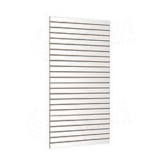 SLAT panel SLIM 120 x 240 cm, tloušťka 13,8 mm, 23 drážek v rozteči 10 cm, bílý