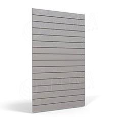 SLAT FIX panel 120 x 240 cm, 23 drážek v rozteči 10 cm, bez insertů, světle šedý