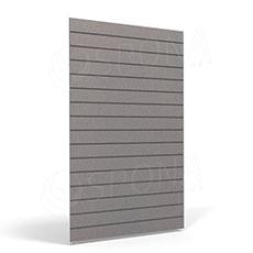 SLAT FIX panel 120 x 240 cm, 23 drážek v rozteči 10 cm, bez insertů, platina