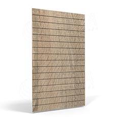 SLAT FIX panel 120 x 120 cm, 11 drážek v rozteči 10 cm, bez insertů, dub sonoma