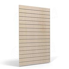 SLAT FIX panel 120 x 120 cm, 11 drážek v rozteči 10 cm, bez insertů, světlé dřevo