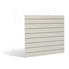 SLAT FIX panel 120 x 120 cm, 11 drážek v rozteči 10 cm, bez insertů, oboustranný bílý dekor