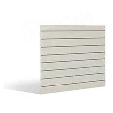 SLAT FIX panel 120 x 120 cm, 7 drážek v rozteči 15 cm, bez insertů, bílý