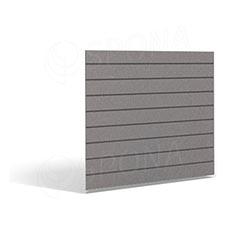 SLAT FIX panel 120 x 120 cm, 7 drážek v rozteči 15 cm, bez insertů, platina
