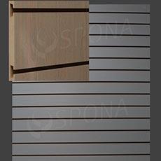 SLAT DREAM panel 120,5 x 122 cm, rozteč 10 cm, bez insertů, světlý dub (oak)
