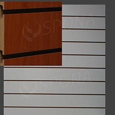SLAT DREAM panel 120,5 x 122 cm, 11 drážek v rozteči 10 cm, bez insertů, třešeň (cherry)