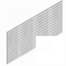 SLAT panel PROMO 244 x 122 cm / 15, terminal, bez insertů, bílý (white)