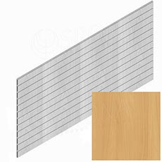 SLAT panel PROMO 244 x 122 cm / 15, terminal, bez insertů, buk (beech)