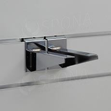 SLAT konzole koncová 150 mm, pár, chrom