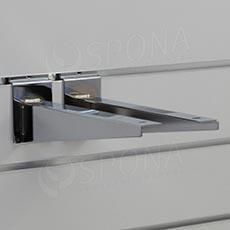 SLAT konzole koncová 250 mm, pár, chrom