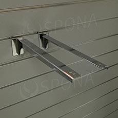 SLAT konzole koncová 350 mm, pár, chrom AC
