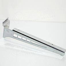 SLAT konzole koncová GEG 315 mm, pár, chrom
