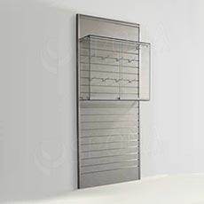 SLAT vitrína závěsná, 900 x 800 x 250 mm, temperované sklo
