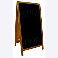 Dřevěný reklamní stojan typ 64, oboustranný 118 x 61 x 4 cm, černá tabule